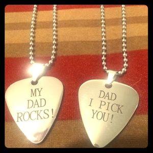 Jewelry - DAD guitar pick charm